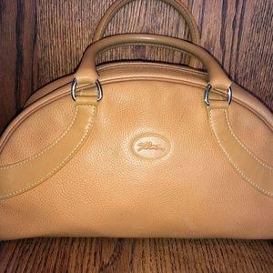 Longchamp Vintage Leather Bowler Bag - Purse